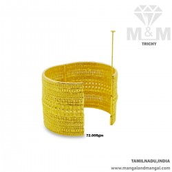 Bright Gold Broad Bangle