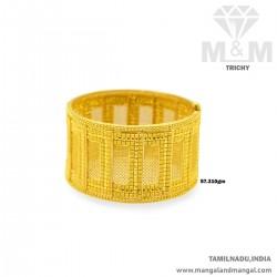 Masterful Gold Broad Bangle