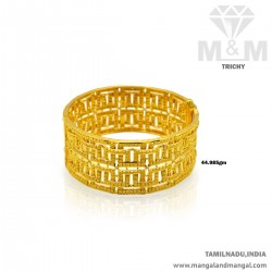 Artful Gold Broad Bangle