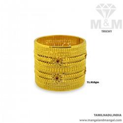 Superior Gold Broad Bangle