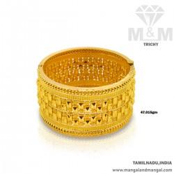 Handsome Gold Broad Bangle