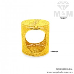 Fantastic Gold Broad Bangle