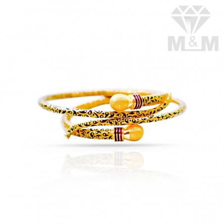 Preeminent Gold Fancy Bangles