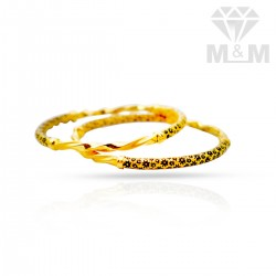 Unrivaled Gold Fancy Bangles