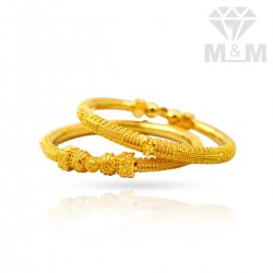 Dramatic Gold Fancy Bangles