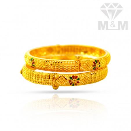 Enormous Gold Fancy Bangles