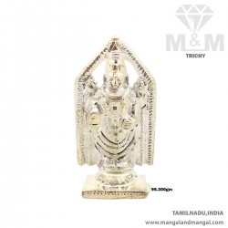 Divine Silver Lord Balaji Idol