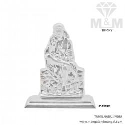 Fantastic Silver Sai Baba Idol