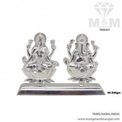 Fascinating Silver Lakshmi...