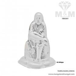 Inspired Silver Sai Baba Idol