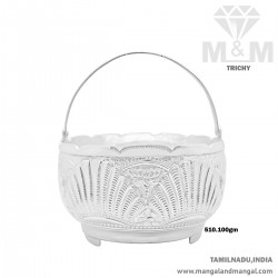 Aesthetic Silver Pooja Basket