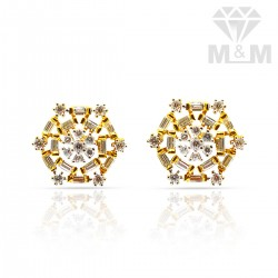 Lovely Gold Casting Stone Stud
