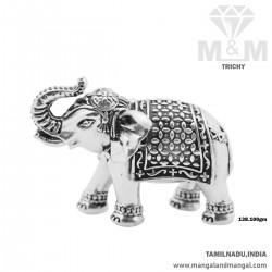 Peerless Silver Elephant Idol