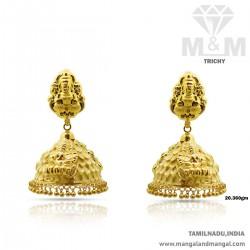 Resplendent Gold Nagas Earring