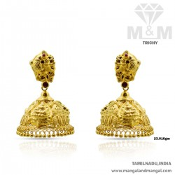 Scenic Gold Nagas Earring