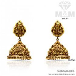 Splendid Gold Nagas Earring