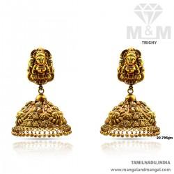 Wonderful Gold Nagas Earring