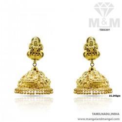 Prettiest Gold Nagas Earring