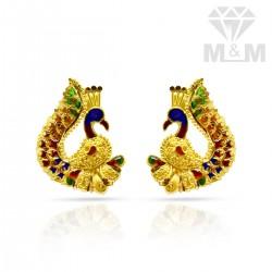 Exquisite Gold Fancy Enamel Stud