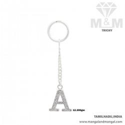 Pleasant Silver Key Chain