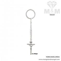 Seductive Silver Key Chain