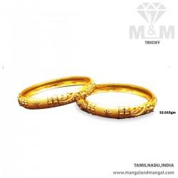 Impressive Gold Fancy Bangles
