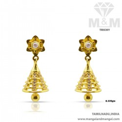 Charming Gold Women Earring