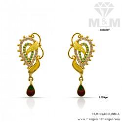 Delightful Gold Women Earring