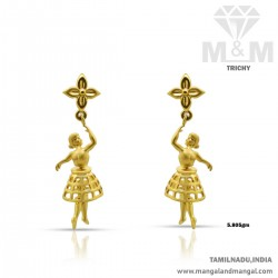 Exotic Gold Women Earring