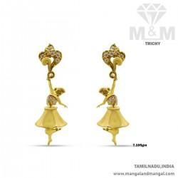 Fantastical Gold Women Earring