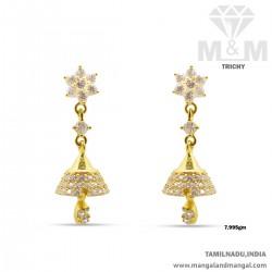 Glamorous Gold Women Earring