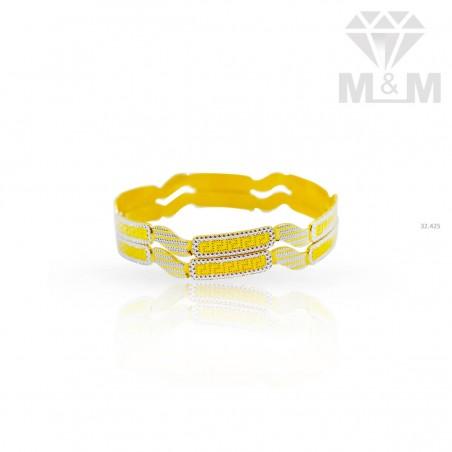Attractive Gold Rhodium Bangle