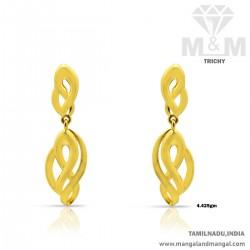 Quirky Gold Women Earring