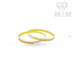 Elegant Gold Rhodium Bangle