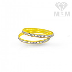 Lovely Gold Rhodium Bangle
