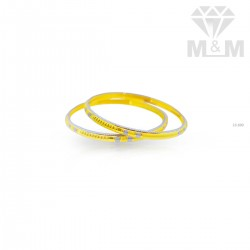 Pleasing Gold Rhodium Bangle