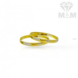 Serene Gold Rhodium Bangle