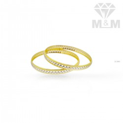 Strange Gold Rhodium Bangle