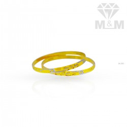 Beautiful Gold Rhodium Bangle