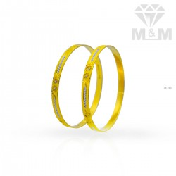 Charming Gold Rhodium Bangle