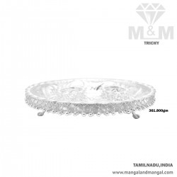 Graceful Silver Plate with...