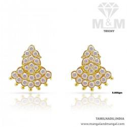 Flamboyant Gold Women Stone Fancy Earring