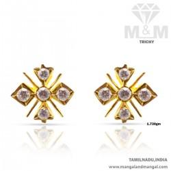 Prolific Gold Women Stone Fancy Earring