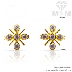 Magnificent Gold Women Stone Fancy Earring