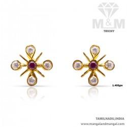 Archetypal Gold Women Stone Fancy Earring