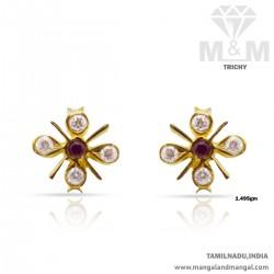 Hallowed Gold Women Stone Fancy Earring