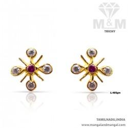 Strangest Gold Women Stone Fancy Earring