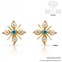 Prestigious Gold Women Stone Fancy Earring