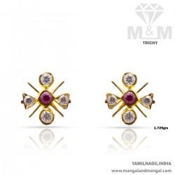 Reputed Gold Women Stone Fancy Earring