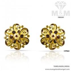 Lush Gold Women Fancy Earring